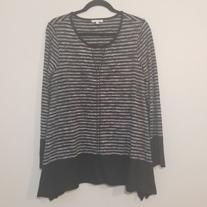 Max Studio | Striped Oversized Tunic